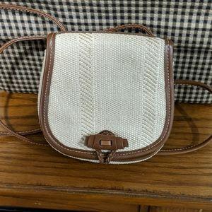 Small straw crossbody purse